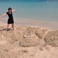 Sandslott i Middelhavet