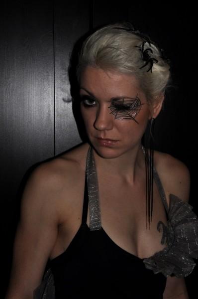 Halloween-kostyme: Edderkoppdame