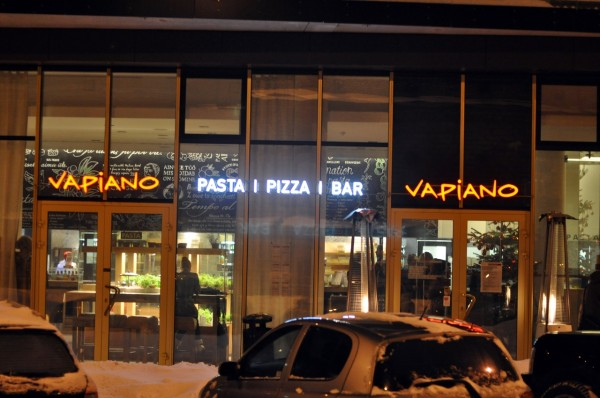 Pasta i pizza i bar