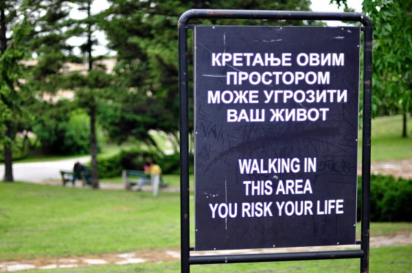 Walking in this area you risk your life (Beograd)