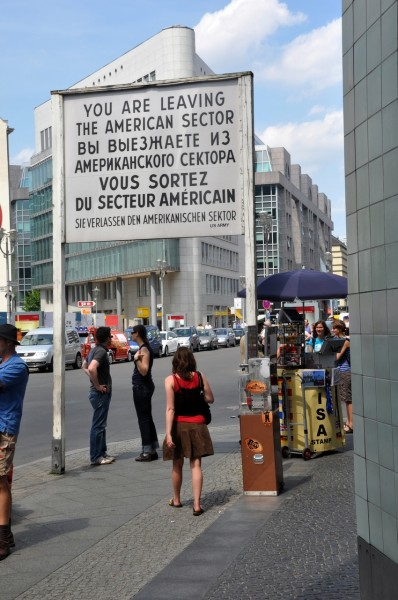You are leaving the american sector (Berlin)