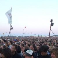 Radiohead på Orange scene - publikum