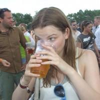 Dette var den første gangen jeg så Linn drikke øl.