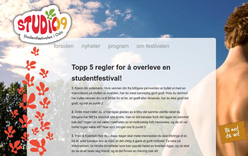 Studentfestivalen i Oslo 2009 (STUDiO09)